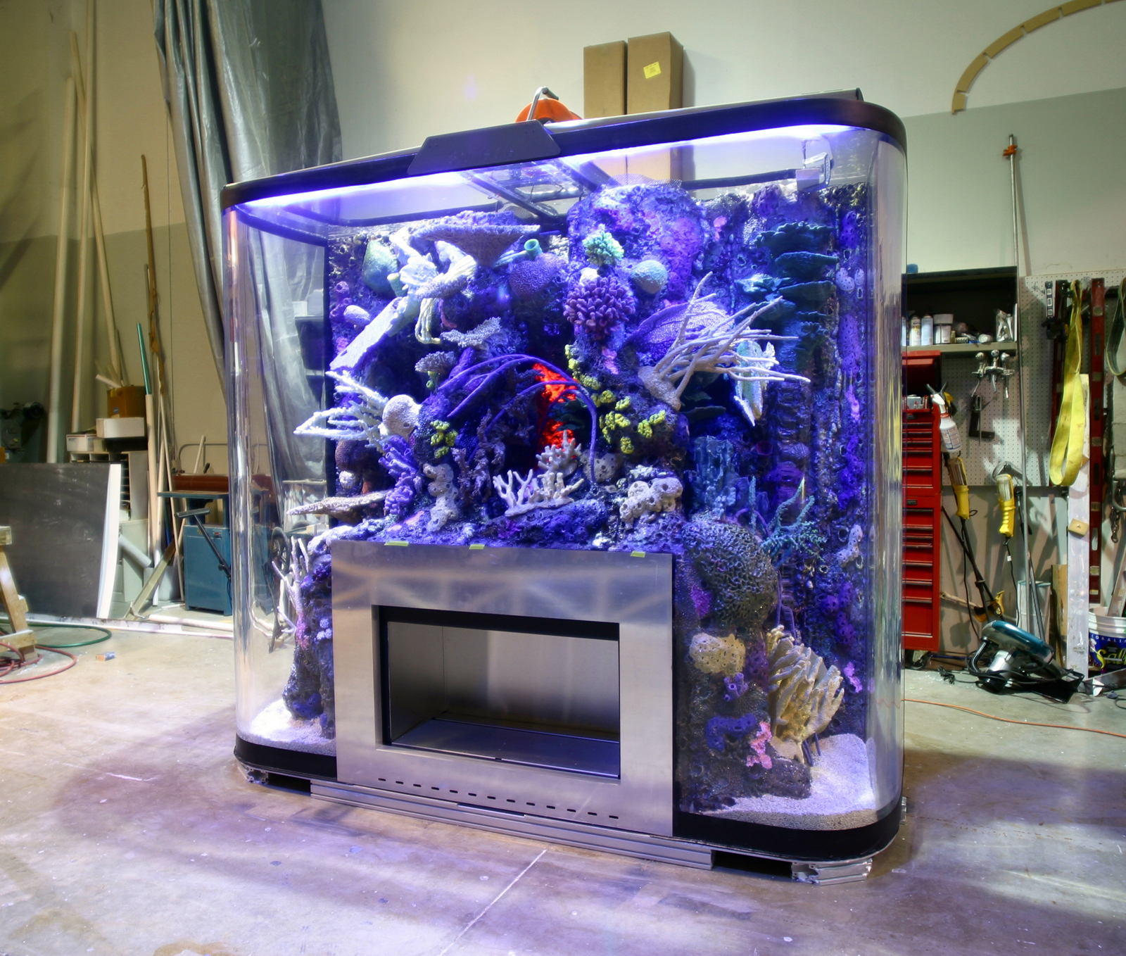 440 gallon custom drop off reef tank page 9 reef for Marine fish tanks